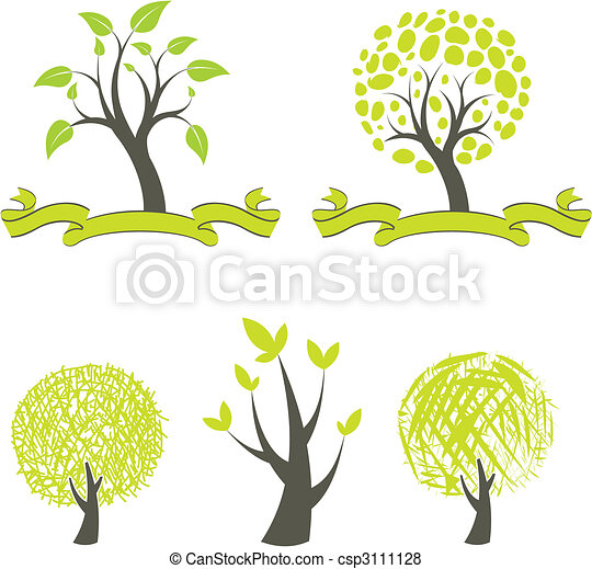 collection of trees - csp3111128