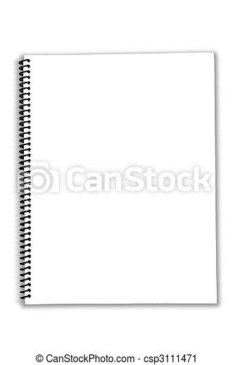 Blank Spiral Notebook - csp3111471