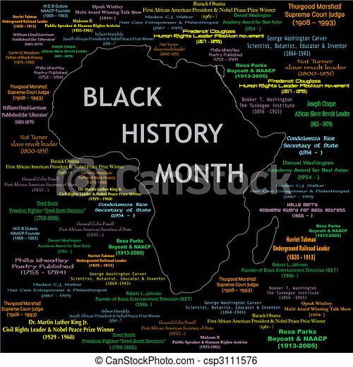 Black History Month Collage - csp3111576