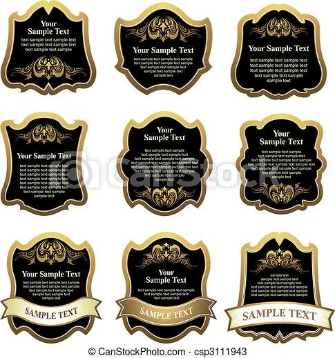 set of design elements - csp3111943