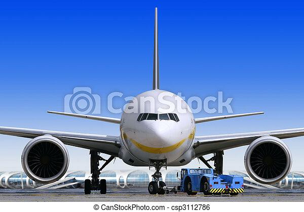 Air liner at the airport - csp3112786