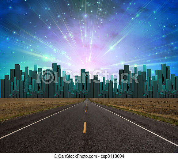 Road to City of light - csp3113004