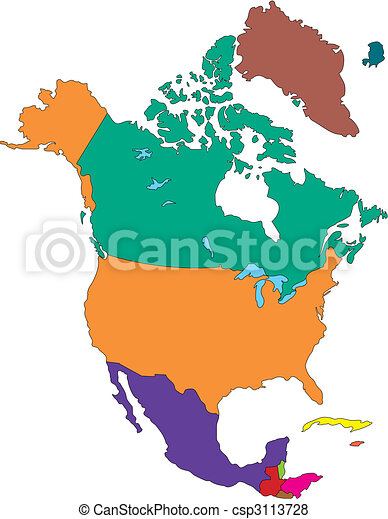 North America with Countries - csp3113728