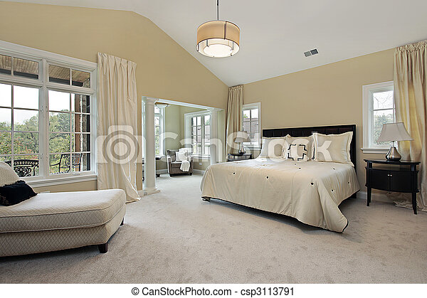 Stock Photography Of Master Bedroom With Sitting Room