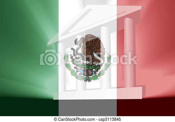 Flag of Mexico government - csp3113845