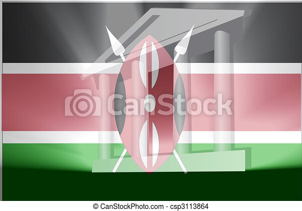 Flag of Kenya government - csp3113864