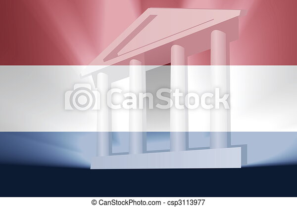 Flag of Netherlands government - csp3113977