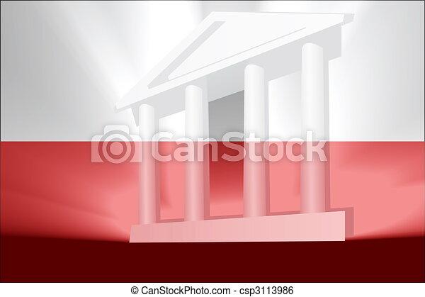 Flag of Poland government - csp3113986