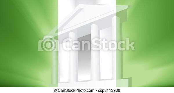 Flag of Nigeria government - csp3113988