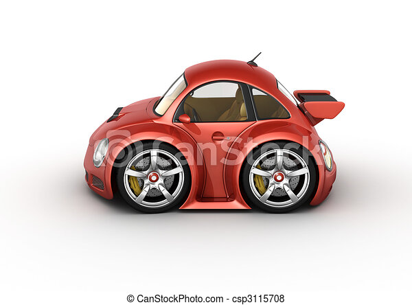 Red sport car - csp3115708