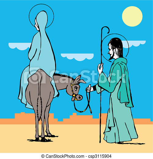 way to bethlehem. Vector illustration  - csp3115904