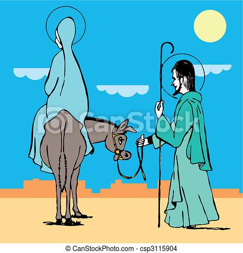 way to bethlehem. Vector illustration  - csp3115904