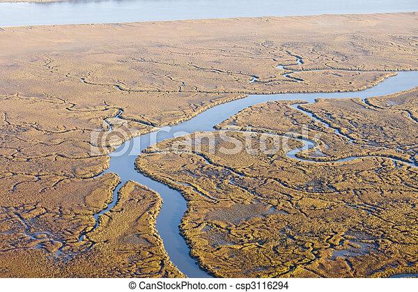 aerial marine estuary - csp3116294