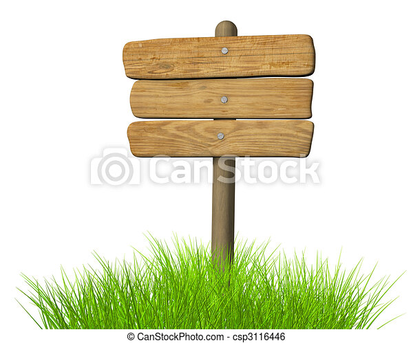 Wooden signboard  - csp3116446