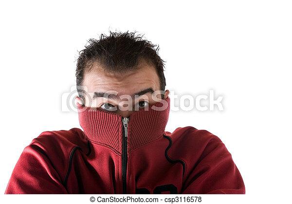 Cold Shivering Man - csp3116578