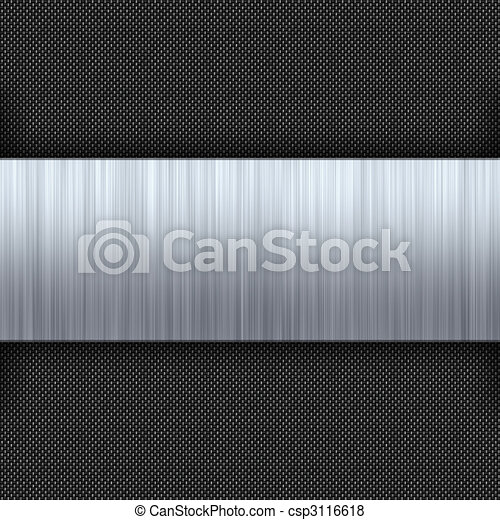 Brushed Metal Carbon Fiber - csp3116618