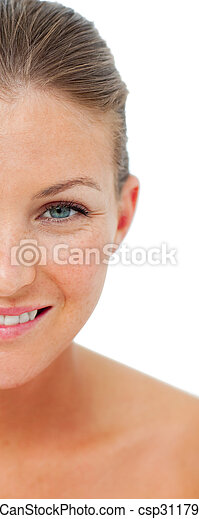 Portrait of woman after having a spa treatment - csp3117964