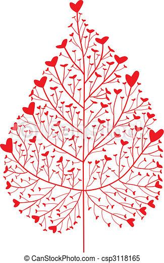 vecteur clipart de coeur arbre coeur feuille silhouette vecteur csp3118165 recherchez. Black Bedroom Furniture Sets. Home Design Ideas