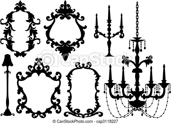 frames and chandelier - csp3118227