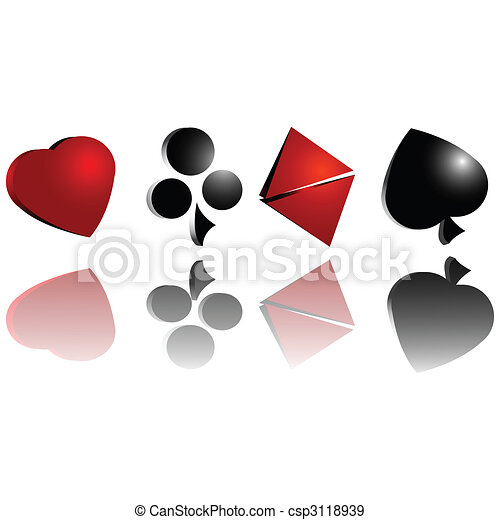 Gambling cards symbol - csp3118939