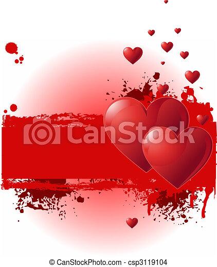 Valentine Grunge banner - csp3119104
