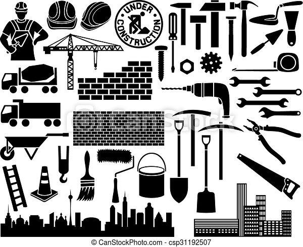 construction icon set - csp31192507