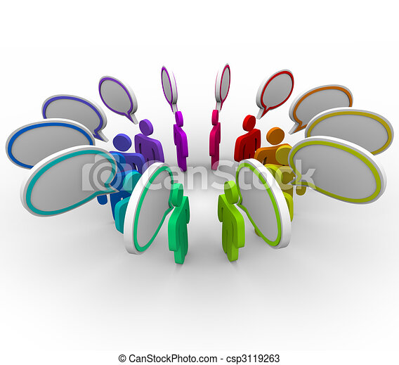 Information Sharing Network - People Talking - csp3119263