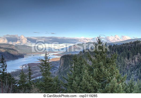 Scenic Columbia Gorge - csp3119285