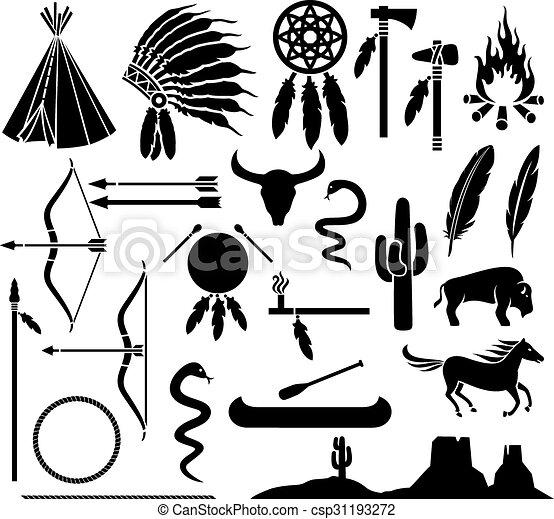 vektoren illustration von indianer satz geb rtig. Black Bedroom Furniture Sets. Home Design Ideas