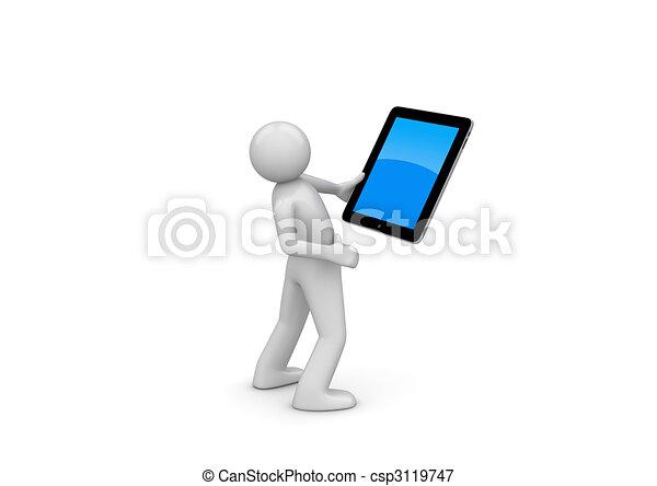 Happy ipad user - csp3119747