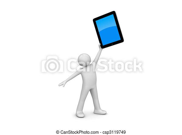 Happy ipad owner - csp3119749