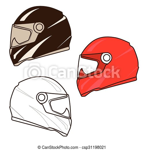 Illustration vecteur de casque moto illustration - Dessin casque moto ...