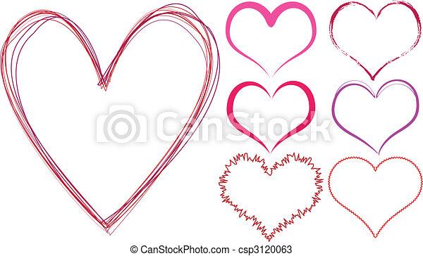 scribble hearts - csp3120063
