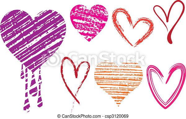 grungy hearts - csp3120069
