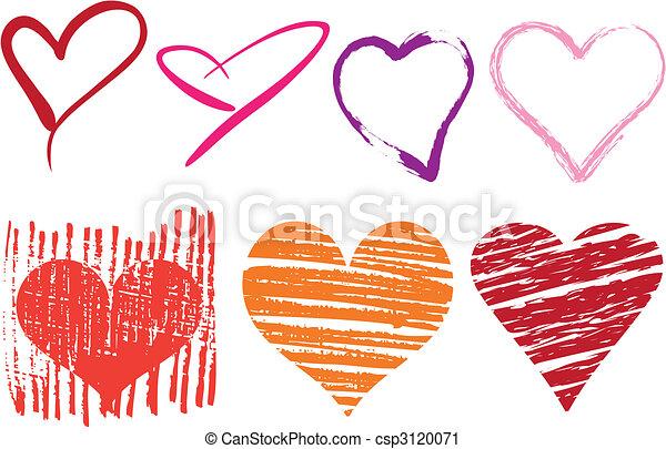 grungy hearts - csp3120071
