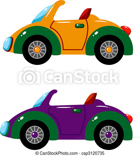 Two vector cars over white - csp3120735