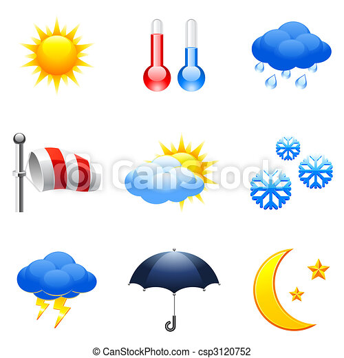 Weather icons. - csp3120752