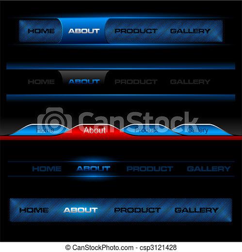 Editable website vector buttons - csp3121428