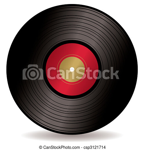 Eps Vector Of Lp Record Album Old Fashioned Long Play