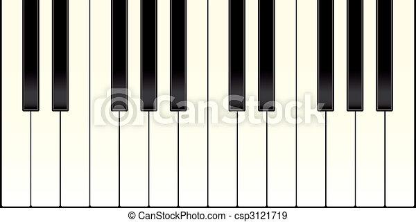 eps vektoren von klavier tastatur mit schwarz und wei es schl ssel csp3121719 suchen. Black Bedroom Furniture Sets. Home Design Ideas