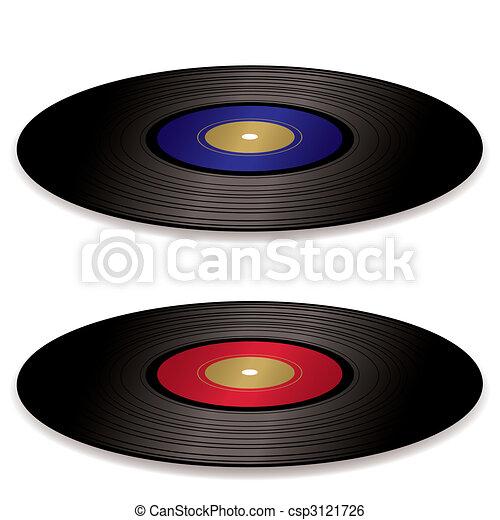 LP record album flat - csp3121726