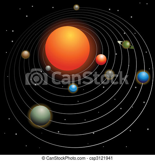 Solar system Vector Clipart Illustrations. 8,649 Solar system clip ...