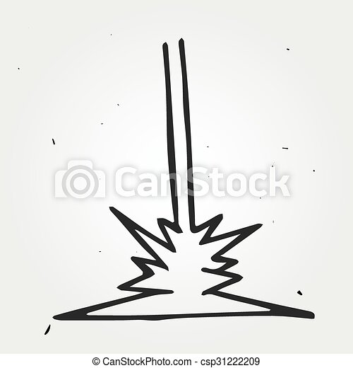 Vector Clipart of Hand drawn laser beam, doodle vector element ...