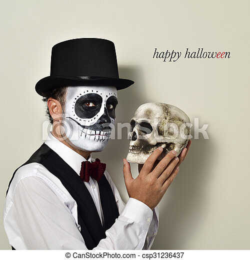 Crane mexicain maquillage homme - Maquillage halloween mexicain ...