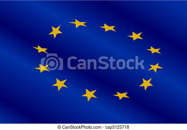 Flag of Europe Union - csp3123718