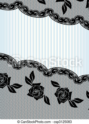 Black French lace background, vertical - csp3125083