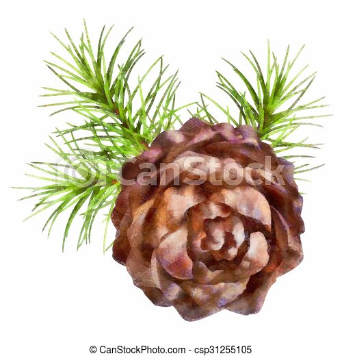 christmas pine cone drawing - photo #7