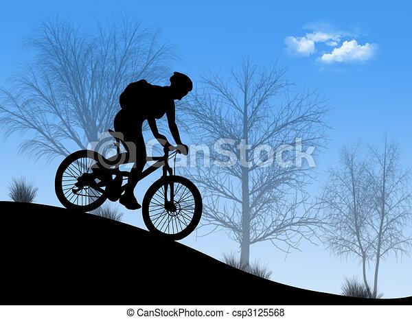 downhill mountain biking logo