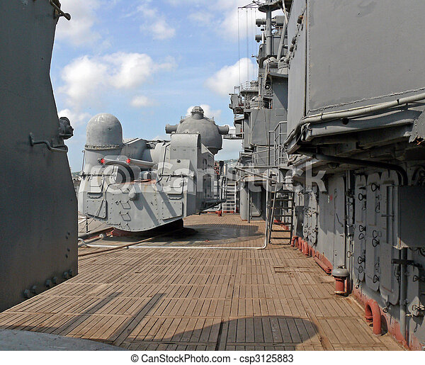 On a deck of the battle ship - csp3125883