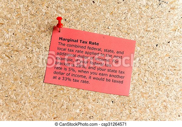 marginal tax rate - csp31264571